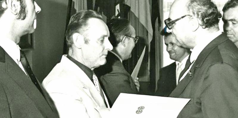 Heinz Ickert Auszeichnung der Handwerkskammer, ca. 1980